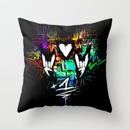 Chiptunes = Win: +1 Throw Pillow