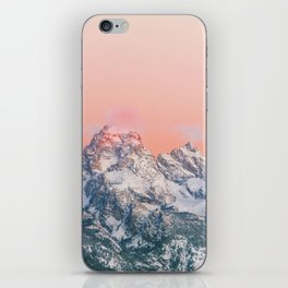 Alpenglow LIVING CORAL Mountain Sunset iPhone Skin
