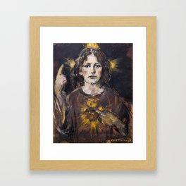 The light of my sacred heart. Jesus child Framed Art Print