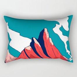 Smoke trail mountains Rectangular Pillow