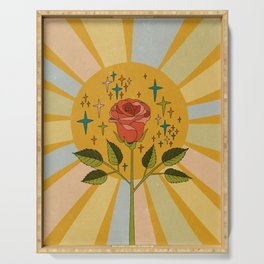 Sun rose Serving Tray