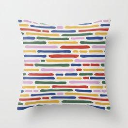 Seamless Summer Pattern Throw Pillow