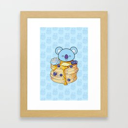 BT21 KOYA Pancake BTS RM RapMon Kim Namjoon Framed Art Print