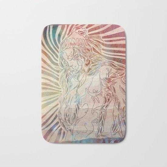 Here Comes The Sun Bath Mat by Urszasza  Society6 # Sun Shower Rug_220024