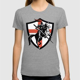 Medieval Knight Jousting Saint Georges Cross T-shirt