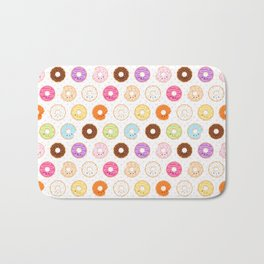 Happy Cute Donuts Pattern Bath Mat