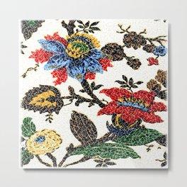 Antique Floral Vintage Pattern Design Metal Print