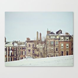 Boston Commons on a Winter Day Canvas Print