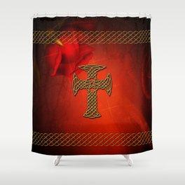 Wonderful celtic cross Shower Curtain