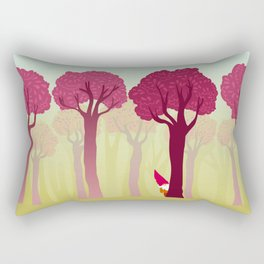 colorful forest with cute dwarf Rectangular Pillow