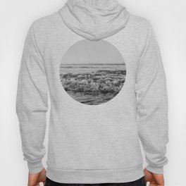 Black and White Pacific Ocean Waves Hoody