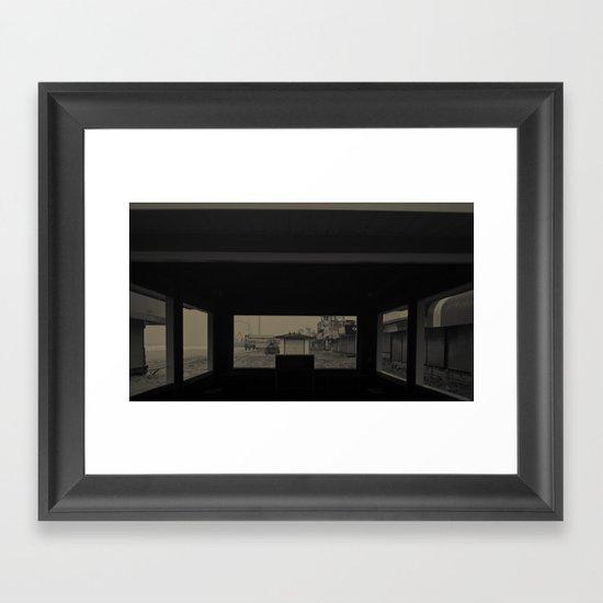 Boardwalk Gone, After Sandy Framed Art Print