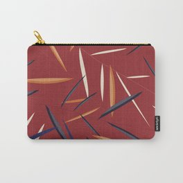 Leaves in a red background Carry-All Pouch