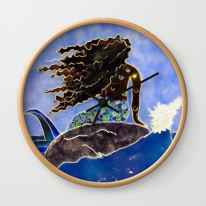 Lady of the Atlantic Crossing Wall Clock