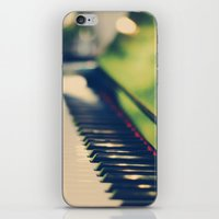 piano iPhone & iPod Skins featuring piano by Kristina Strasunske