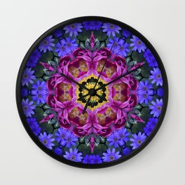 Floral finery - vivid kaleidoscope 20170321_135334 e k1 Wall Clock