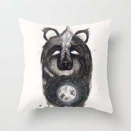 Selene the Moon Bear. Throw Pillow
