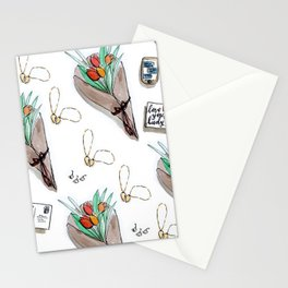 Galentine's Day Pattern Stationery Cards