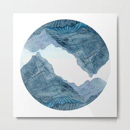 Living as the Mountains Do Metal Print
