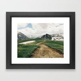 Colorado Mountain Road Framed Art Print
