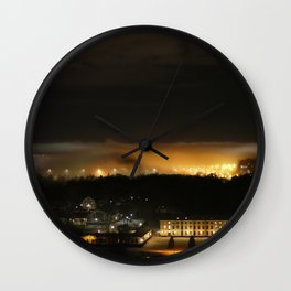 Captured and Claimed Light by the City at Night Wall Clock