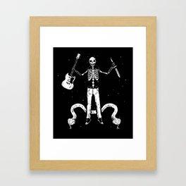 Worship the dark II Framed Art Print