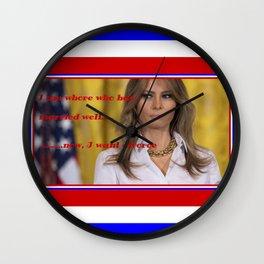 whore/melania Wall Clock