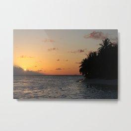 Maldivian Sunset, Vilamendhoo, Maldives Metal Print