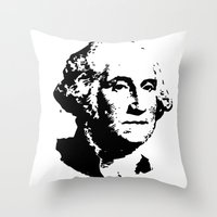 washington Throw Pillows featuring WASHINGTON by b & c