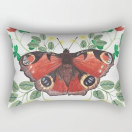 Peacock Butterfly Rectangular Pillow