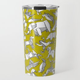 origami animal ditsy chartreuse Travel Mug