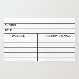 Library Due Date Card Rug