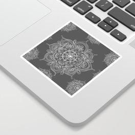 Gray mandala Sticker
