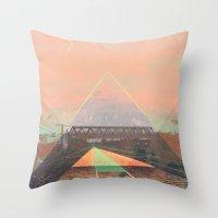 tesla Throw Pillows featuring tesla by michelle borjon