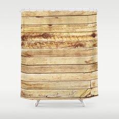 cabin stripes Shower Curtain