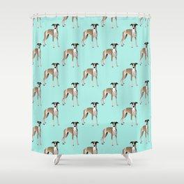 Whippet Love Shower Curtain
