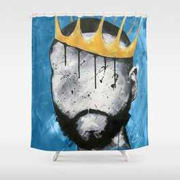 Naturally King BLUE Shower Curtain
