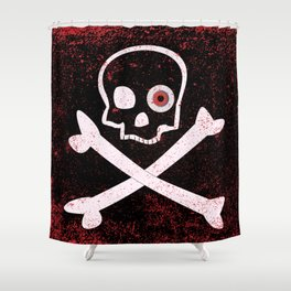 Jolly Roger With Eyeballs Shower Curtain