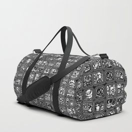 Mayan Temple B&W Duffle Bag