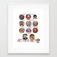 hetalia Framed Art Prints featuring Art School Party by invisibleinnocence