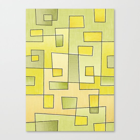 "Proto pattern n 2 ""fresh lemonade"" Canvas Print"