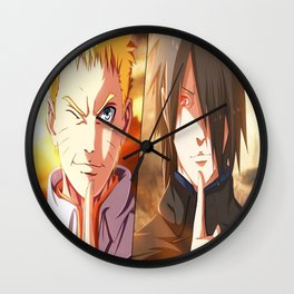 jutsu naruto sasuke Wall Clock