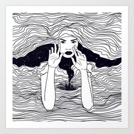 soul waves Art Print