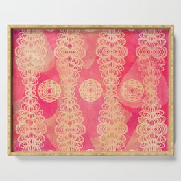 Hot Pink Lace Serving Tray