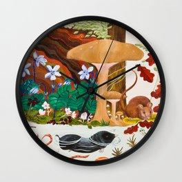 Mole and Mushroom Wall Clock