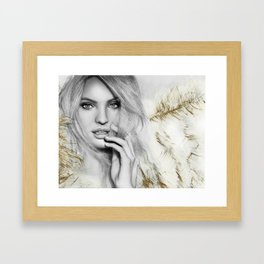 Candice (Pencil Art) Framed Art Print