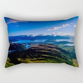 lake wanaka covered in blue colors new zealand beauties Rectangular Pillow