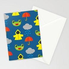 rainy days (Children's pattern) Stationery Cards