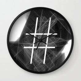 Hashtag typographic treatment.  Dark Math. # Wall Clock