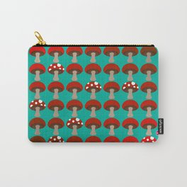 Mushroom | Ombre | Peacock Green Carry-All Pouch